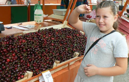 Черешите на Зеленчуков пазар - между 3 и 4 лв.за килограм.